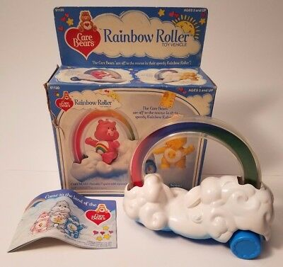 Care Bears Rainbow Roller Toy Vehicle with Original Box by Kenner 61130