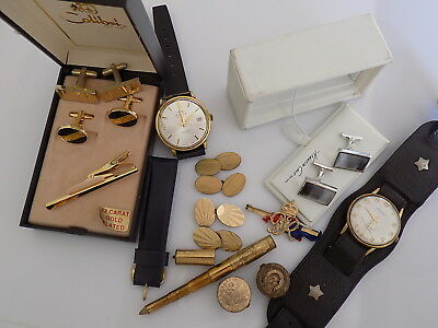 Job Lot of Vintage mens costume jewellery and watches