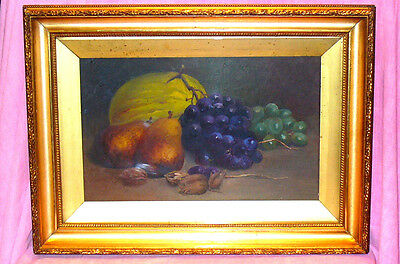 "Old Gilt Framed Oil On Canvas Signed By Alice Newboult ""still Life"" 22"" X 16"""