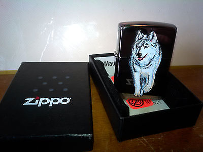 ZIPPO Lighter Wolf 769 Black Ice Chrome Lighter - Classic 2010 - USA