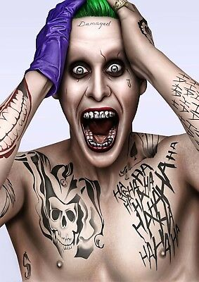 Suicide Squad Movie Joker Jared Leto Glossy Wall Art Poster Print (A1 -A5 Sizes)