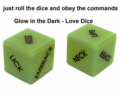 Dice Glow-In-The-Dark Saucy Adult Naughty Gift Romantic Couple Game Lover Tasks