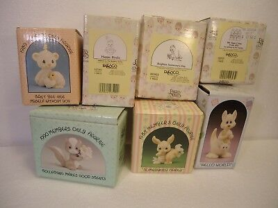 Precious Moments - Lot of 7 animal pieces all in boxes!