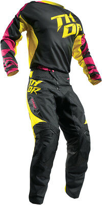 THOR Fuse Air Dazz Cross Combo magenta gelb Hose Jersey Motocross Enduro