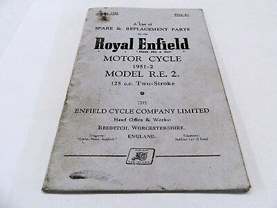 ROYAL ENFIELD MOTOR CYCLE MODEL R.E.2 125cc TWO-STROKE ref 291