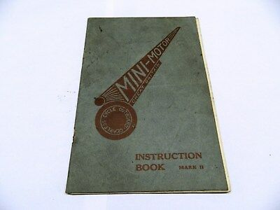 MINI - MOTOR AUTO CYCLE INSTRUCTION BOOK MARK II ref 307