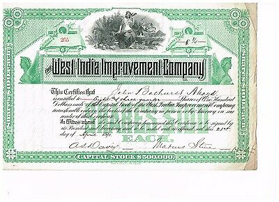 West India Improvement Co., 1890