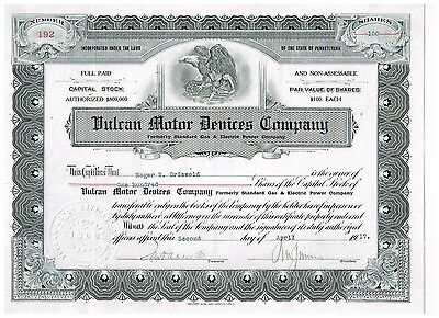 Vulcan Motor Devices Co., 1917