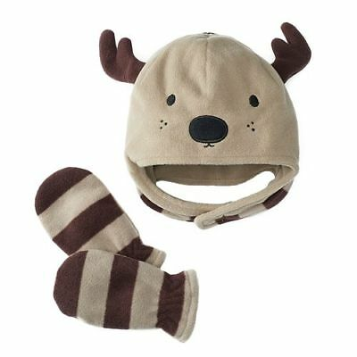 Jumping Beans Reindeer Hat w/ Mittens Set, Size 2T 3T 4T Machine Washable