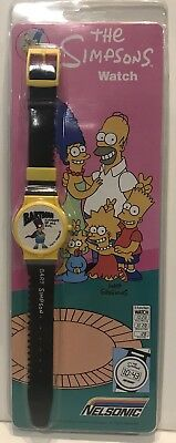 "Bart Simpson VINTAGE The Simpsons NELSONIC Wristwatch 1990 ""bartman"""