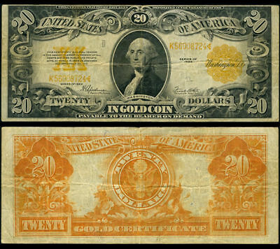 FR. 1187 $20 1922 Gold Certificate with Washington Photo