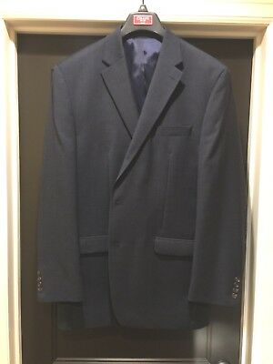 Men's 46L Chaps Navy Sport Two Button Coat Long Classic Fit
