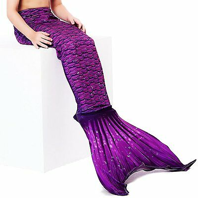 Play Tailor Mermaid Tail Swimmable Costume Swimsuit for Girls SwimmingNo monofin