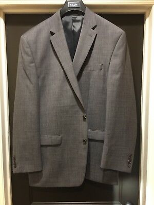 Men's 46L Chaps Grey Sport Two Button Coat Long Classic Fit