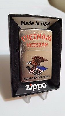 New 2011 Vietnam Veteran Served in Hell  Zippo Lighter