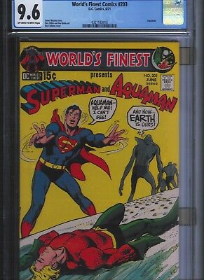 World's Finest Comics # 203 CGC 9.6 Off White to White Pages. UnRestored.