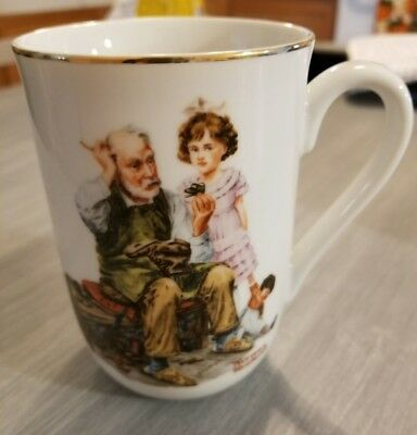 The Cobbler Norman Rockwell Museum 1982 Coffee Mug Cup Glass