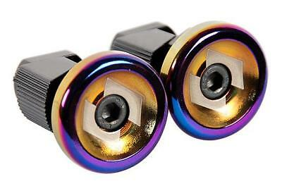 Snafu BMX Stubby Bar Ends Oil Slick