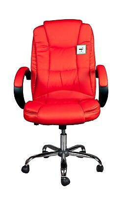 Brand new PC office chair in black or red PU leather #7306