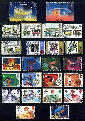 Gb Qeii Fine Used Commemoratives 1970 - 1998 : 19 Sets/ 78 Stamps : 3 Photos