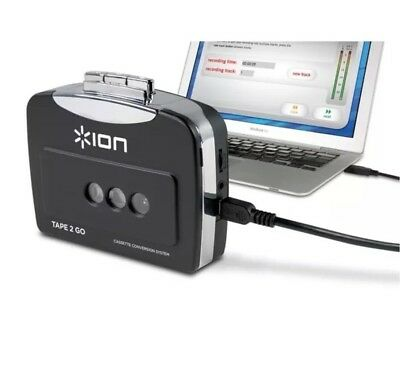 Ion Tape 2 Go USB Portable Analog Casette Tape to MP3 Converter Player