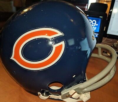 Chicago Bears NFL 1970's -1980's M Rawlings Game Quality Vintage Football Helmet