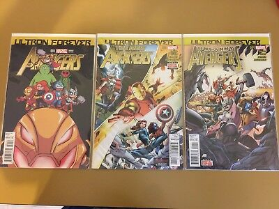 Avengers Ultron Forever #1-3 Complete Comic Lot Run Set 1st Print Collection