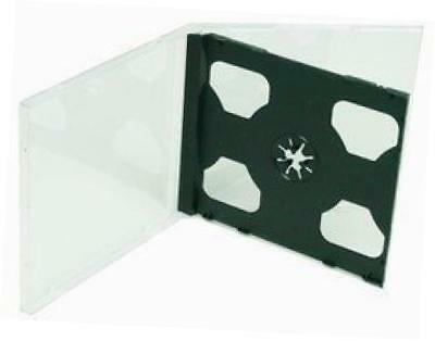 cd jewel case black double assembled 25 pieces