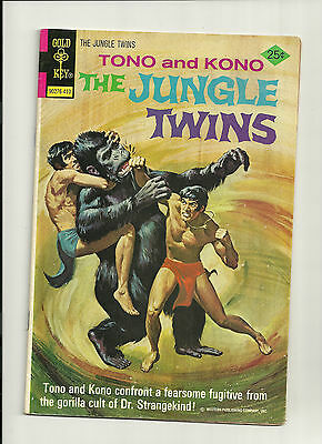 "The Jungle Twins #11 (Oct 1974 GOLD KEY) F+ ""THE ISLAND OF DR. STRANGEKIND!"""