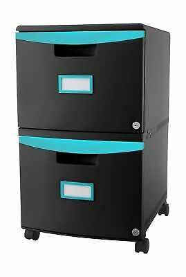 Storex 2-Drawer Mobile Filing Cabinet, 18.25 x 14.75 x 26 Inches Letter/Legal...