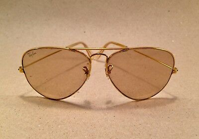 Vintage Ray Ban Large Metal changeable brown 58 [] 14 B&L Bausch Lomb USA