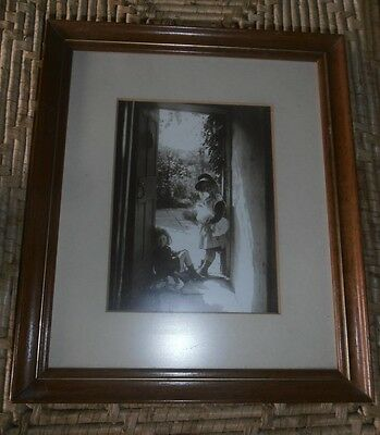 Vintage Whitby photograph, Sisters, Frank Meadow Sutcliffe Gallery framed, sepia