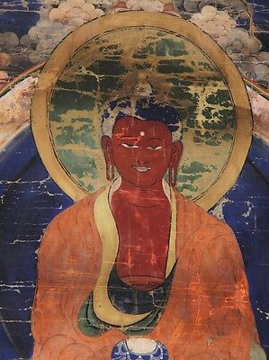 18th Century Mongolian Tibetan Buddhist Thangka Amazing Patina and Colors