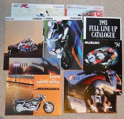 Suzuki and Yamaha Motorcycle Brochures