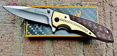 BROWNING DA77 Folding Camping Outdoor Pocket Knife STOCK IN USA- GREAT GIFT!