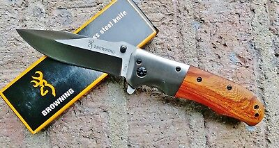 BROWNING DA51 POCKET KNIFE  Stainless Steel, Wood STOCK IN USA GREAT GIFT!