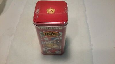 M&M's Christmas Telephone Booth Tin Sealed in Original sealer