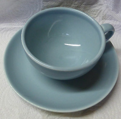 Iroquois Russel Wright CASUAL ICE/FOAMY BLUE After Dinner Cup & Saucer
