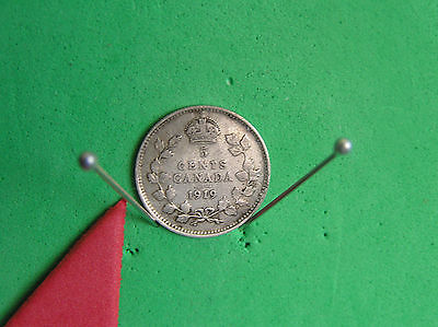 L-too:1919 CANADA SILVER 5 CENTS~.925 SILVER *K.EDW. ->see ship info small items