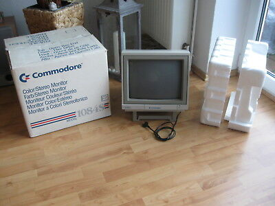 Commodore 1084 S-P Color Monitor -  Amiga C64 C128 OK XBOX Playstation - in OVP