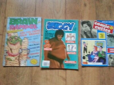 ADULTS ONLY MAGAZINES ( COMIC CUTIES,BRAIN DAMAGE & ZIGGY )( please see photos )