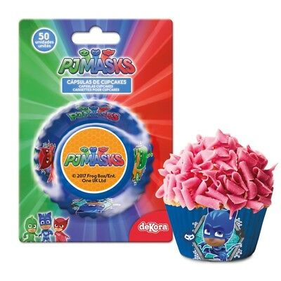PJ MASKS Cupcake Cases Capsules Baking Cake Figure Character dekora Pack of 50