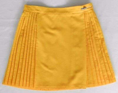 Ladies Netball Sport Skirt Yellow / Gold Pre-owned Size 16 - 20