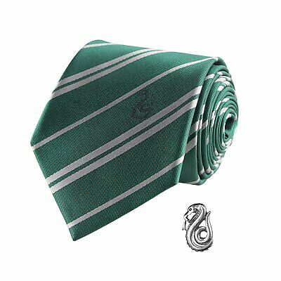 Harry Potter : Deluxe SLYTHERIN TIE with Pin Set from Cinereplicas