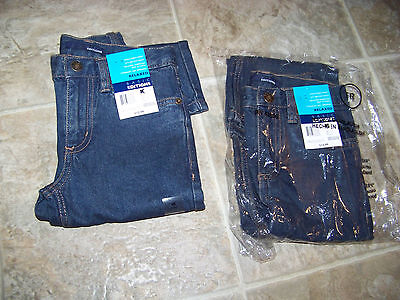 (2) Boys 6R Relaxed Fit Adjustable Waist Jeans By Basic Edition Free Usa Ship