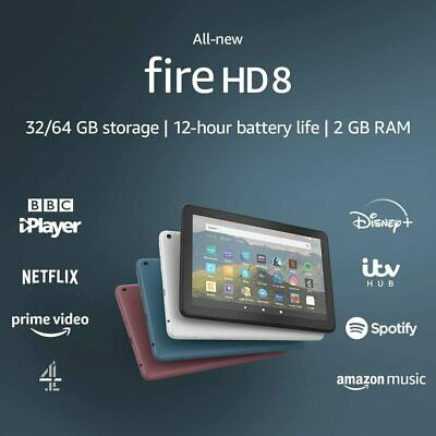 New Amazon Kindle Fire HD 8 Tablet with Alexa,32GB Latest Model UK Stock