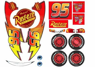Disney Lightning McQueen edible cake topper labels/stickers for car-shaped cake