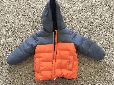 Hanna Andersson Reversible  Gray-Orange/Navy Puffer Coat size 3T or 90