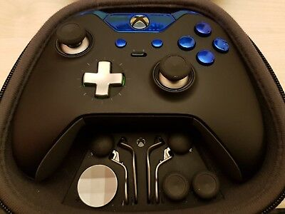 Customised Official Xbox One Elite Controller - Blue Edition - Custom / Modded
