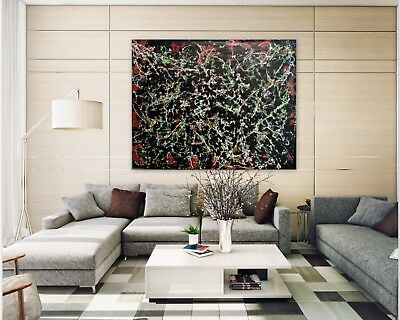 Frozen Abstract Original Art Paintings Acrylic Huge 60 inches x 48 by Gerson